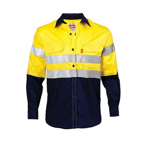 cf428d216ec8 Jonsson Two Tone Long Sleeve Reflective Work Shirt - Gryffin Saftey